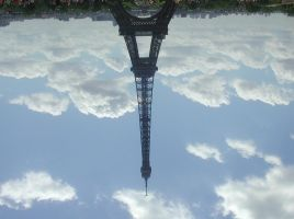 The Eiffel Tower and the Earth by LinaElShamy