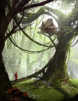 Tree house by e-mendoza