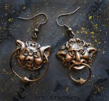 Labyrinth Door Knocker Earrings! by Ideationox