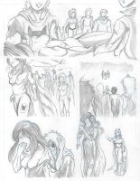 Warriors Penciled page by zeldalegends4525