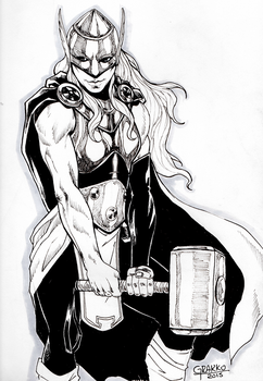 Lady Thor by Slipknoth