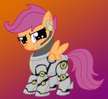 Scootaloo in powersuit. by ponyus94