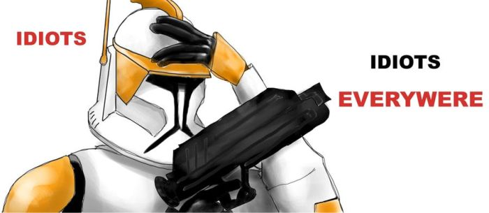 Commander Cody is dissapointed by TheLastWorshipper