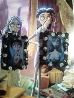 Corpse Bride earrings by mary-DBBC