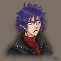 Headshot Commission -Ryusei- by UnseenChaser