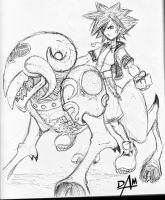 Kingdom Hearts-untitled sketch by dmario