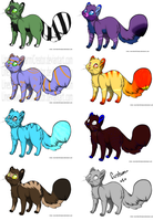 Adoptables by howlowl