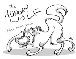 the hungry wolf by TheRoguez