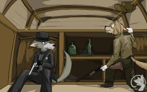 In the Saloon - Commission by Dsurion