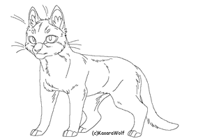 Standing Cat Template by KasaraWolf