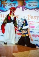 RinHaru cosplay, Halloween Fest 2013 by Shiera13
