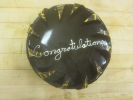 Congratulations Mousse Cake by recycledrapunzel