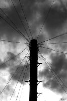 Black and White pole by Priddlee