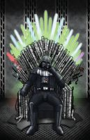 Darth Vader on the Throne of Lightsabers by photon-nmo