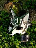 Twilight Princess: Link Wolf Leather Mask by b3designsllc