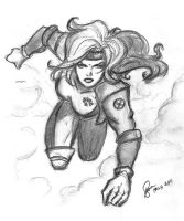 Rogue Traditional Sketch by ArtOfRivana