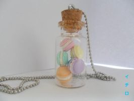 Sweet Macaron Bottled Charm by LeIchirokun