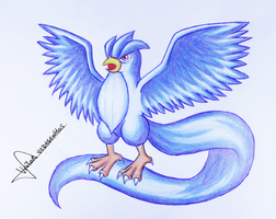 Articuno - Drawing by vcdesenhos