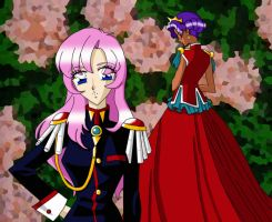 Utena and Anthy by AmayaKouryuu