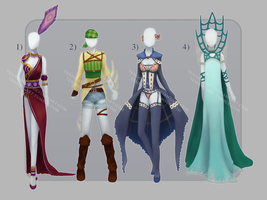 Outfits adopts 1 Open by TenshiHime7