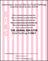 Commission Journal Skin for MyFinalParadox by BrightenYourSmile