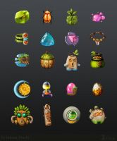 Tropical Theme Items by EternalAnomaly