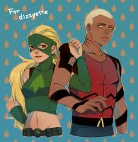 Artemis and Aqualad by thefishboy