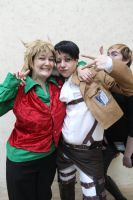 FrostCon2 - Christmas Roxas and Levi by Midnight-Dance-Angel