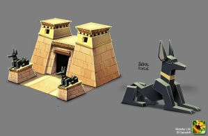 Monster Life - Egypt - Jackal Temple by joslin