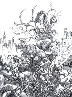 Darkness e Witchblade by ricardoafranco