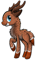 Deer Pony Lineart: PSD 10 Points by Alkraas