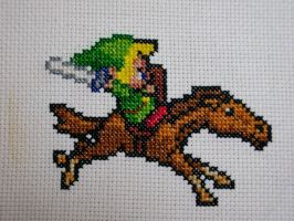 Link and Epona by carand88