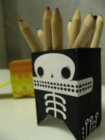 pencil holder by Pandaphobia