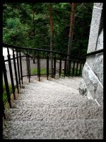 Stairs Down From The Heights by Linduzki