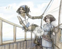 Isabela and Hawke - Sail Away by jancola