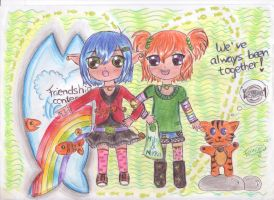 MILO AND NIKKA (ADDED MORE COLOUR)) by cutekawaii96