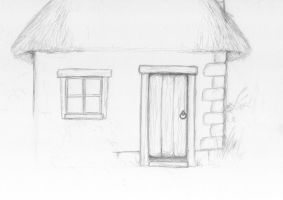Sketch-a-day 28-07-13: The House by ThroughMyThoughts