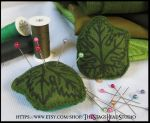 Felt Grape Leaf Pin Cushion by ImogenSmid