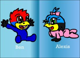 Baby Alexis and Ben by MidnightPrime