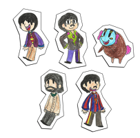 Yellow Submarine Paper Dolls by iamtheableh