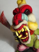 Felted Killer Baboon Clown - Available by AlwaysSuagarCoated