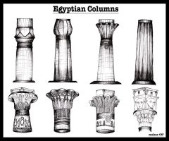 Egyptian Columns by lica-june20