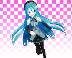 Lat Straight Hair Miku +DL by G123u