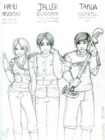 Hahli, Jaller and Takua by ElisitaGayle