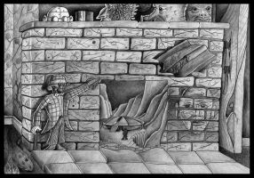 What's behind your fireplace? by visionizor