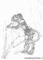 Ermine Anthro Scout by RussellTuller