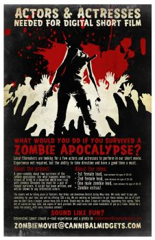 Zombie Movie - Talent Poster by thereverend3k