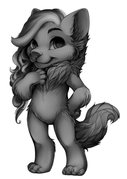 Furvilla - Free to use Wolf w/ hair by Dendropsyche