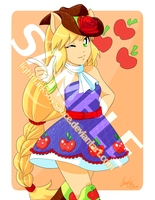 FA: MLP- AppleJack EG Version by LightDarkSoySauce