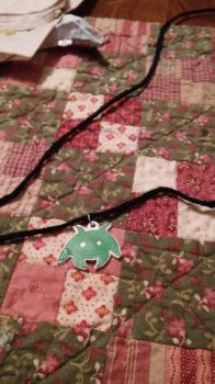 Space Invaders Alien Necklace by MaiShark